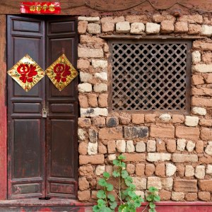 Front of a traditional house in Lijiang, Yunnan, China.