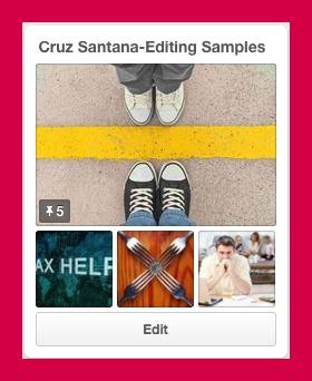 Pinterest editing