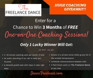Huge Coaching Giveaway - The Freelance Dance